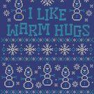 Schneemann mag ich warme Umarmungs-Zitate von BearBon