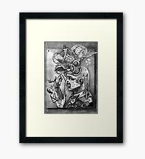 D M F. Framed Print