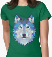 Wolf Animals Gift Womens Fitted T-Shirt