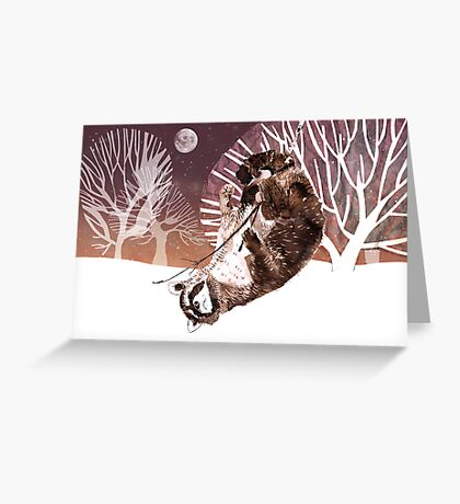 Racoon in a tree Greeting Card