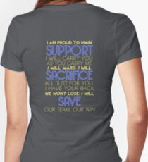 I Am Support Women's Fitted V-Neck T-Shirt