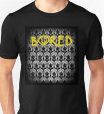 Sherlock - Bored (with wallpaper) Unisex T-Shirt