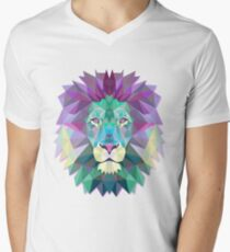 Lion Animals Gift Men's V-Neck T-Shirt