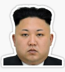 Kim Jong-un Face on something... :D Sticker