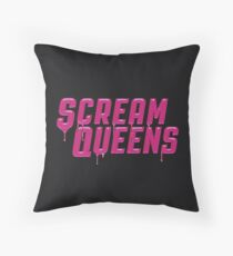 Scream Queens' logo. Throw Pillow