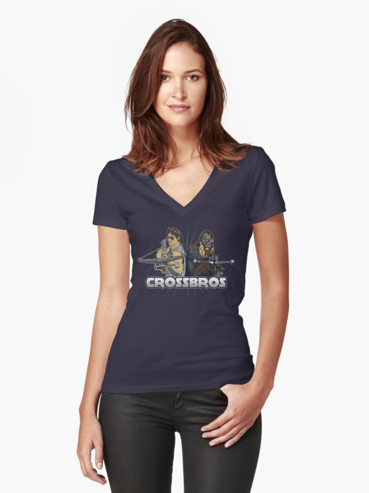 Crossbros Women's Fitted V-Neck T-Shirt Front