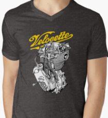 Classic British Motorcycle Engine - Velocette KTT350 Men's V-Neck T-Shirt