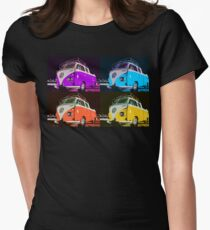 Volkswagen Camper Multi colors illustration 2 Womens Fitted T-Shirt