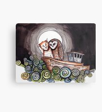 The Owl and the Pussycat Metal Print