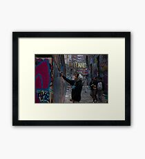 Graffiti Artist - Rutledge Lane Melbourne Framed Print