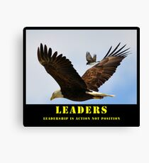 Leaders Motivation Canvas Print