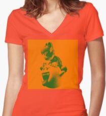 Dry Bones  Women's Fitted V-Neck T-Shirt
