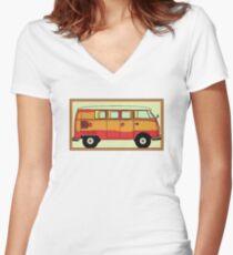 VW umbrella van Women's Fitted V-Neck T-Shirt