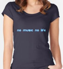 No music no life Women's Fitted Scoop T-Shirt