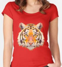 Tiger Animals Gift Women's Fitted Scoop T-Shirt