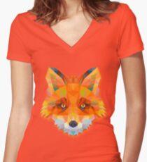 Fox Animals Gift Women's Fitted V-Neck T-Shirt