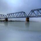 Bridge Under Fog - Murray Bridge, South Australia by Mark Richards
