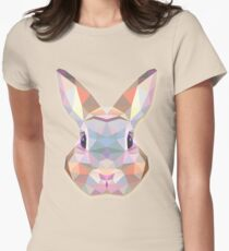 Rabbit Hare Animals Gift Womens Fitted T-Shirt