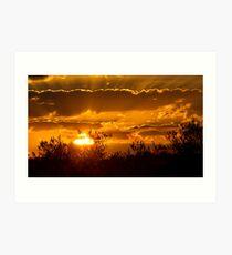 Toulon Sunset Art Print