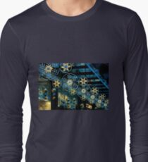 Festive Blues and Golds of Exeter Long Sleeve T-Shirt