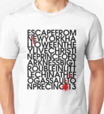 John Carpenter's Filmography in Typography Unisex T-Shirt