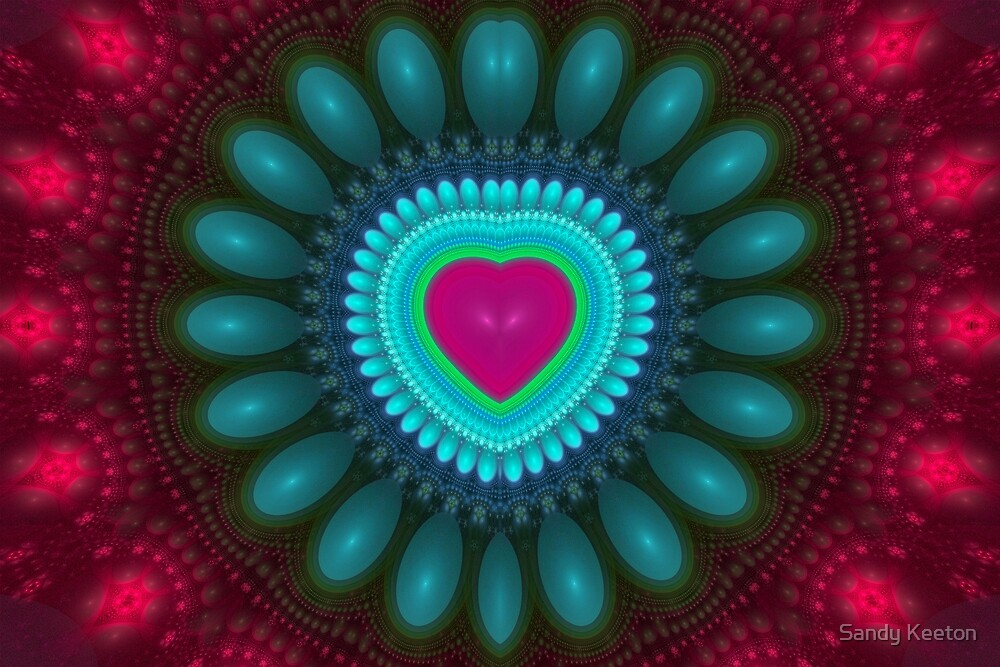 Pink Heart by Sandy Keeton