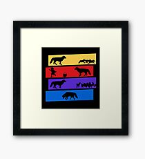 Why Can't we be friends? Framed Print