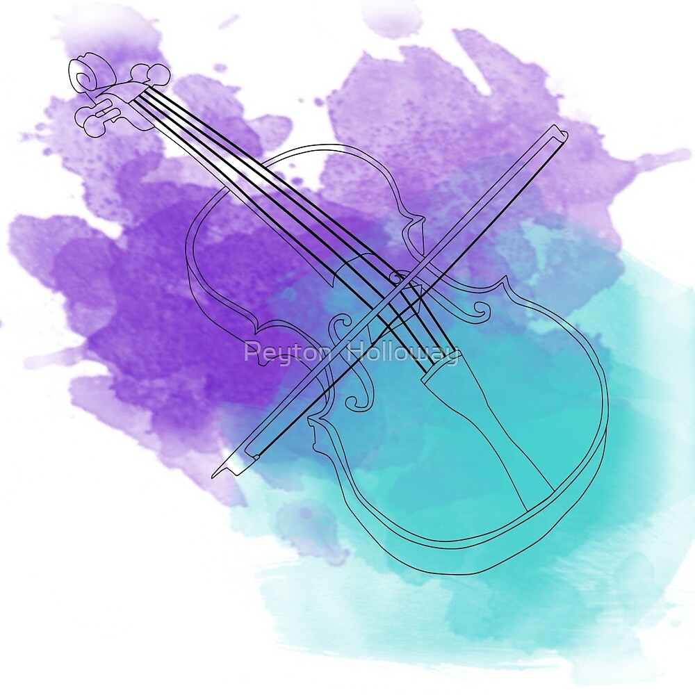 watercolor violin  by Peyton  Holloway