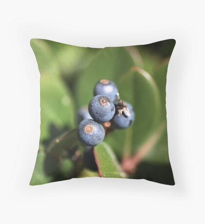 Berries of Blue Throw Pillow