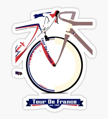Tour De France Bike Sticker