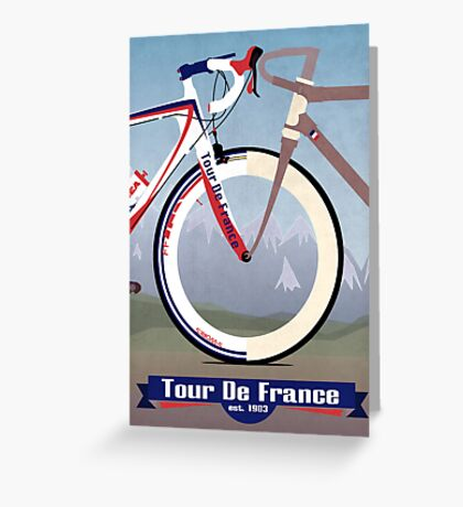 Tour De France Bike Greeting Card