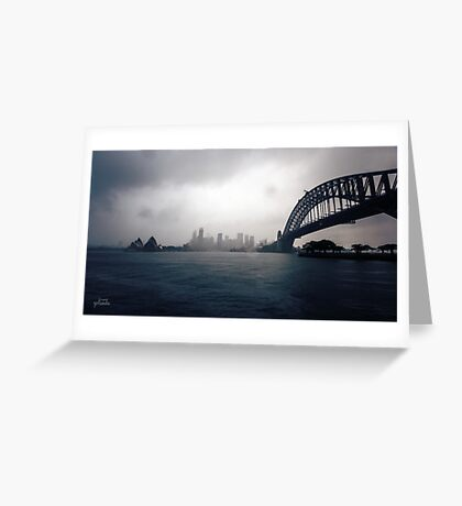 Cold Grey Morning Greeting Card