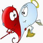 Angel & Devil Love by Skree