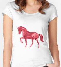Horse Animals Gift Women's Fitted Scoop T-Shirt