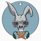 Unhoppable, bunny skull by ARTmuffin