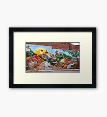 mural Framed Print