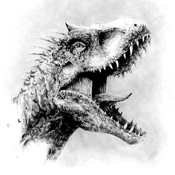 Indominus Rex Jurassic World Dinosaur  by BGauntlett