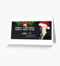 Sherlock Christmas Greeting Card