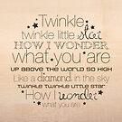 Twinkle Twinkle – 2:3 – Wood  by Janelle Wourms