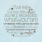 Twinkle Twinkle – 2:3 – Blue  by Janelle Wourms
