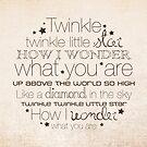 Twinkle Twinkle – 2:3 – Tan  by Janelle Wourms