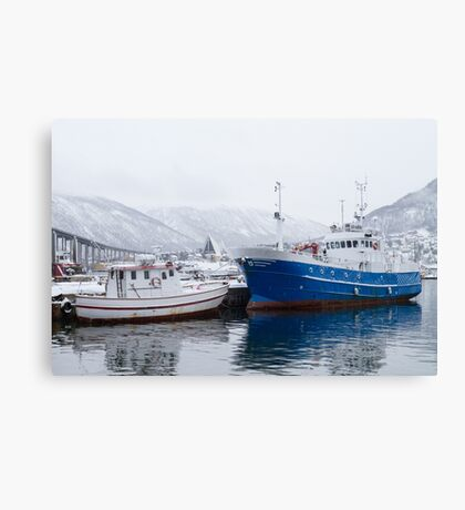 Boats in Tromso Canvas Print