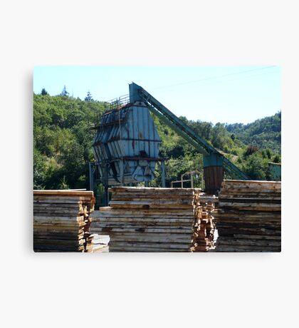 Lumberyard Canvas Print