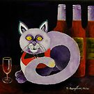 Cat-alocholic bar Cat by sandysartstudio