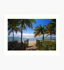 Smathers Beach, Key West Kunstdruck