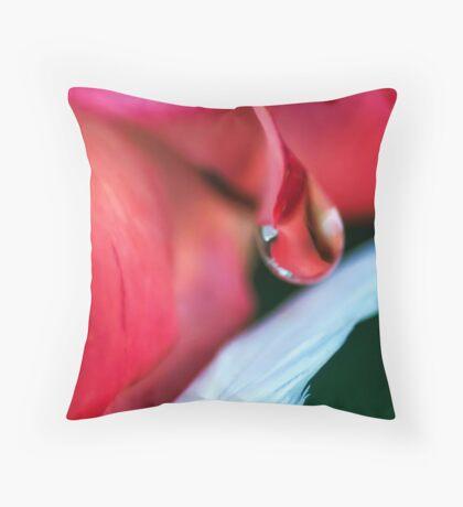 Liquid Rose Throw Pillow