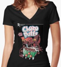Chozo Puffs Women's Fitted V-Neck T-Shirt