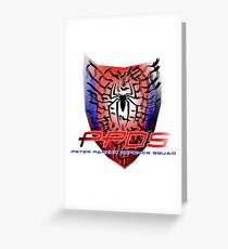 Peter Parker Defence Squad Greeting Card