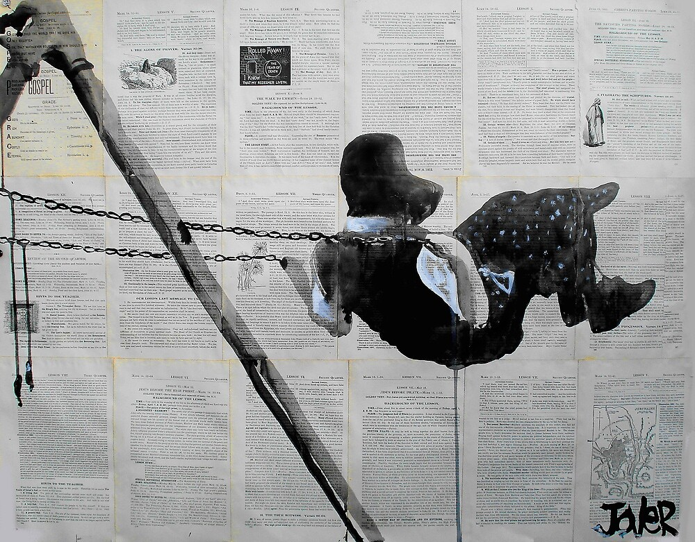 martha (study of an amish girl on a swing ) by Loui  Jover