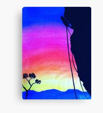 Sunset Rock-Climbing Canvas Print